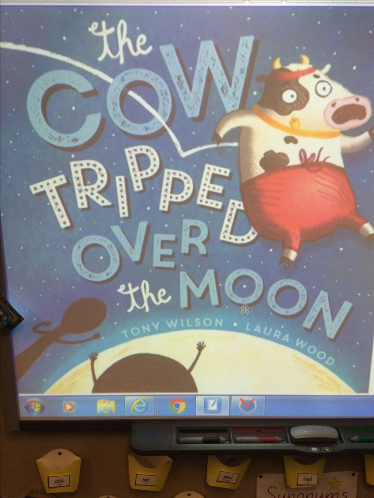 The cow tripped over the moon.