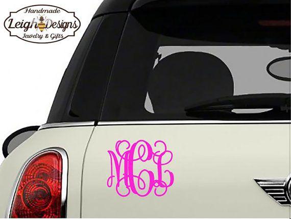 Best LeighBee Designs Images On Pinterest Vinyls Glitter - Monogram decal on car