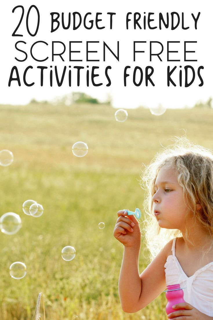 20 budget friendly screen free activities for your child - Child Pictures Free