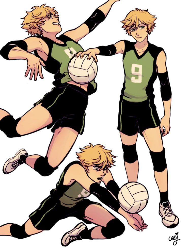 ceejles:  Volleyball AU!!@meru90 and I suffered about the difference between Oikawa and Adrien hair (cuz it's so the same!!) it led us into making volleyball AUs > w <I chose Chat's hair today, bc I LOVE BOTH OF HIS HAIIRRBTW!! Here's Meru's Marinette, the beauty and grace