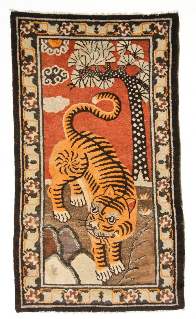 Mongolian Tiger rug, early 20th