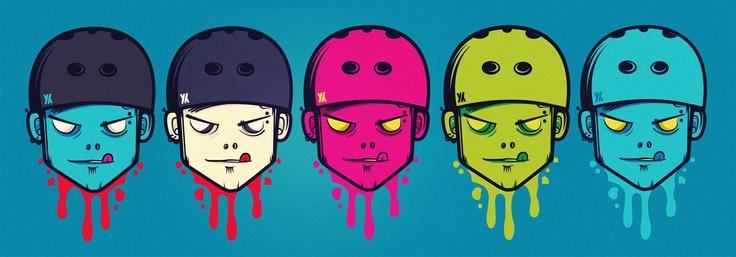 Skate-Zombie Head