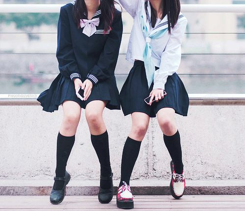 different..uniform..different school...i hope were like this now..but no...were..not...everything has change...we are not like before..were not visited each other...