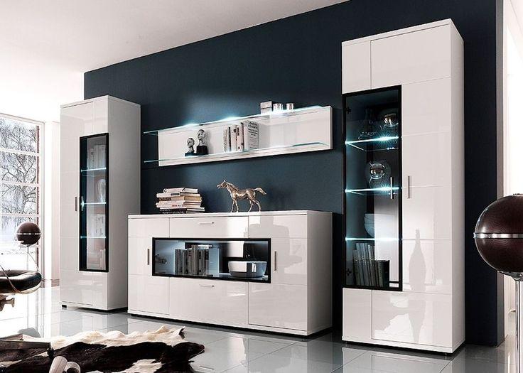 17 best ideas about wohnwand weiß hochglanz on pinterest, Wohnzimmer dekoo
