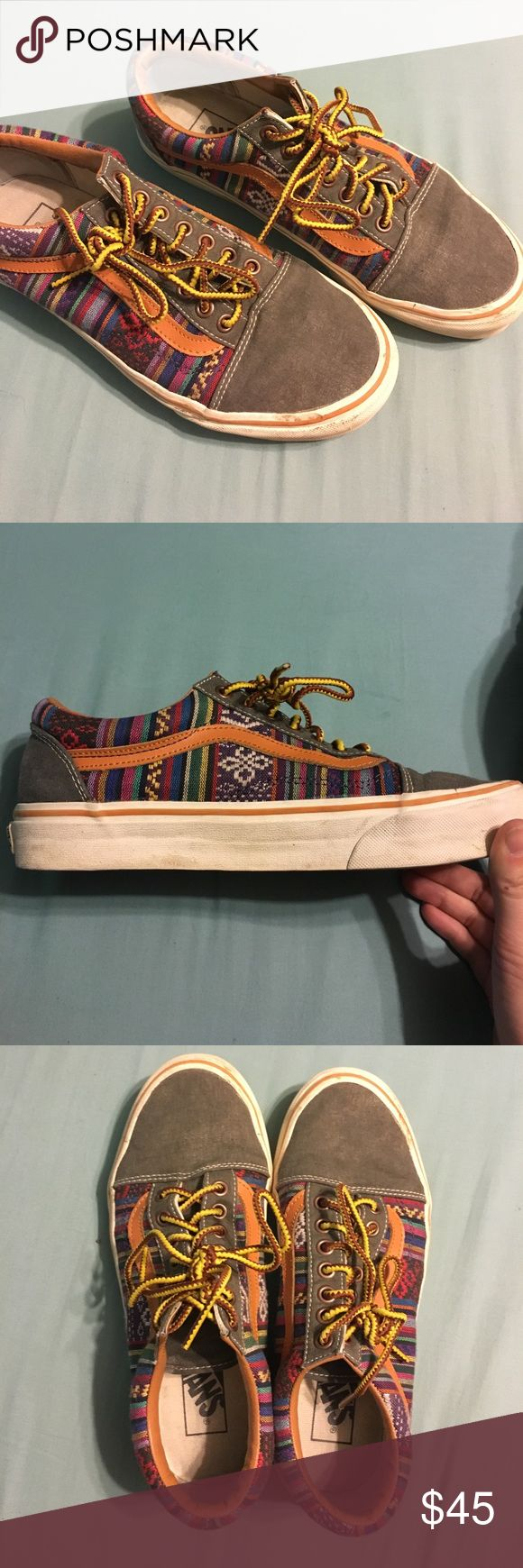 RARE Vans Sk8 Tribal Shoes Super rare and hard to find. Bought back in 2014/2015 and have worn five-ten times tops. Love the pattern but don't wear as much as a should. Men's size 7, women's size 8.5. TTS. Offers welcome, low-balls ignored. Vans Shoes Sneakers