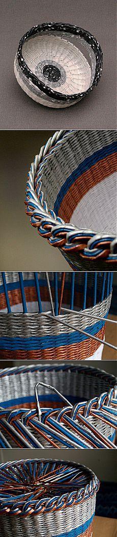 Плетение из газет: Красота от BluReco,+2 МК.