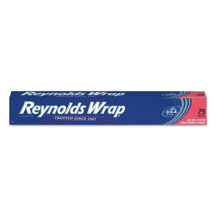 Reynolds Wrap Standard Foil Roll 12-inch x 75-feet Silver 35 Packs/Carton