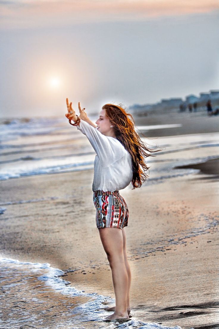 "Haley Senior Portrait - ""Peace Ocean"""
