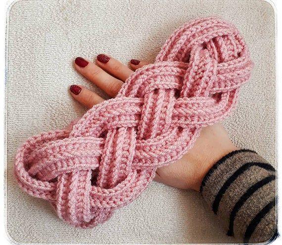 Crochet Easy Cable Headband Earwarmer Written PatternCrochet With GG  Instant PDF Download