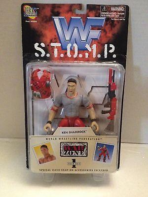 (TAS012562) - WWF WWE Vintage Jakks S.T.O.M.P. Wrestling Figure - Ken Shamrock