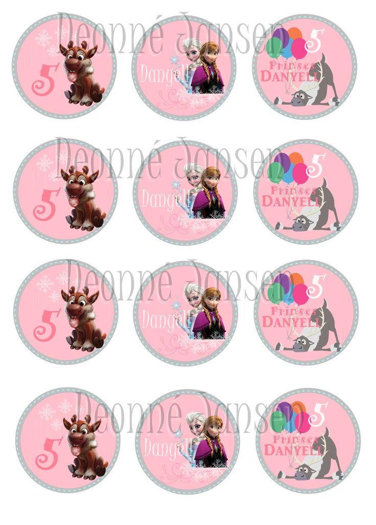 frozen theme capcake toppers  072 5024227 Deonne Jansen Phtography&Design