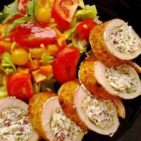 Baconös-újhagymás ricottával göngyölt csirkemell Recept képpel - Mindmegette.hu - Receptek