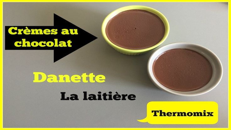 Crèmes au chocolat Danette/La laitière