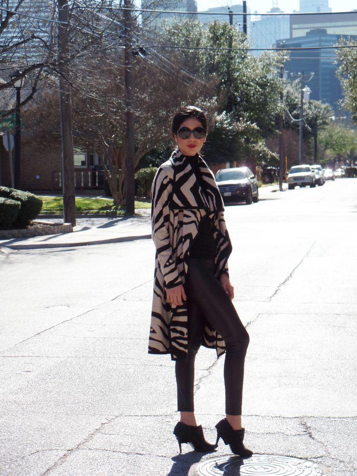 www.vanessaindallas.com  vanessadarlingdallas @ve_ne554  Statement Coat #newyorkandcompany #statementcoat #metallic #blackleggings #leggings #blackturtleneck #black #turtle #neck #vogue #shades #sunglasses #dsw #booties #howtowearastatementcoat #statementcoatideas