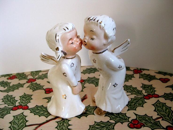 Vintage kissing angels. $10.00, via Etsy.