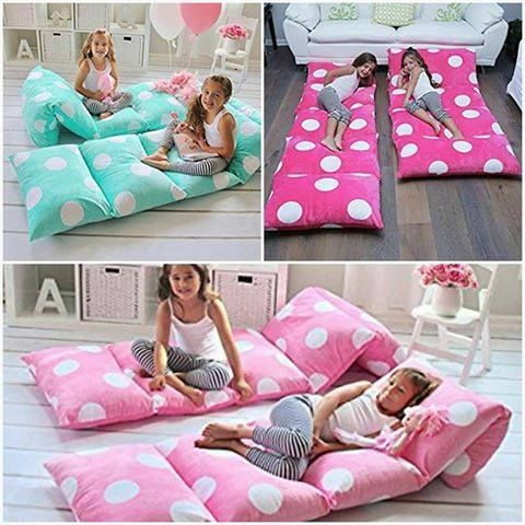 Pillows Into Pillow Mattress Beds For The Kids Or Even Your Pets They Re Ideal Sleepovers Family Movie Nights Don T Miss Portable Nap Mats