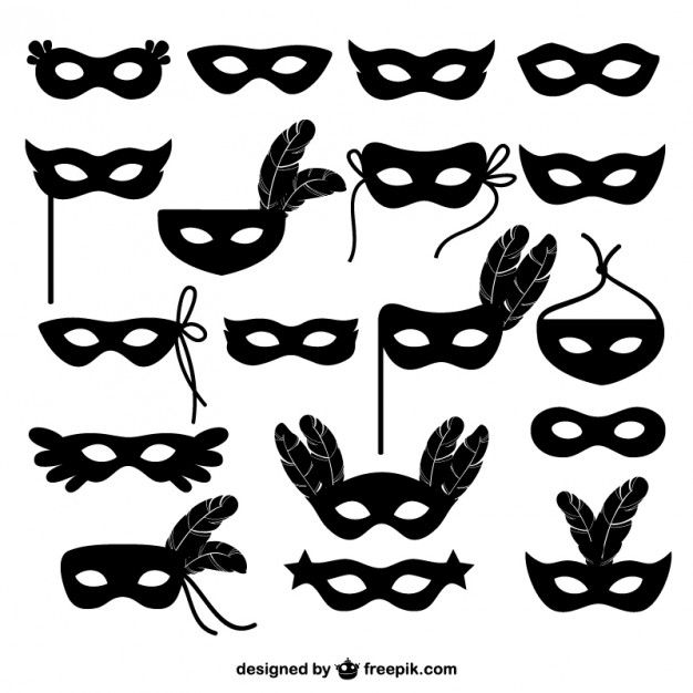 Free vector Carnival mask icons collection #21230