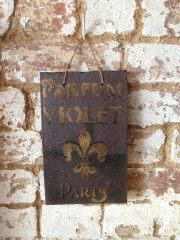 Paris Plaque | Vintage Industrial Accessories | sugdenanddaughters.co.uk | Warehouse Home Design Magazine