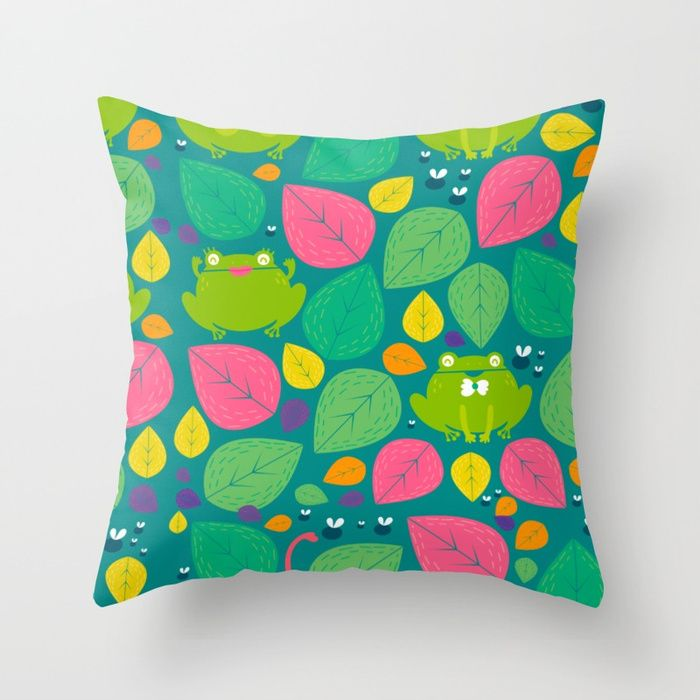 "Living room pillow | ""frogs"" by Maria Jose Da Luz design 