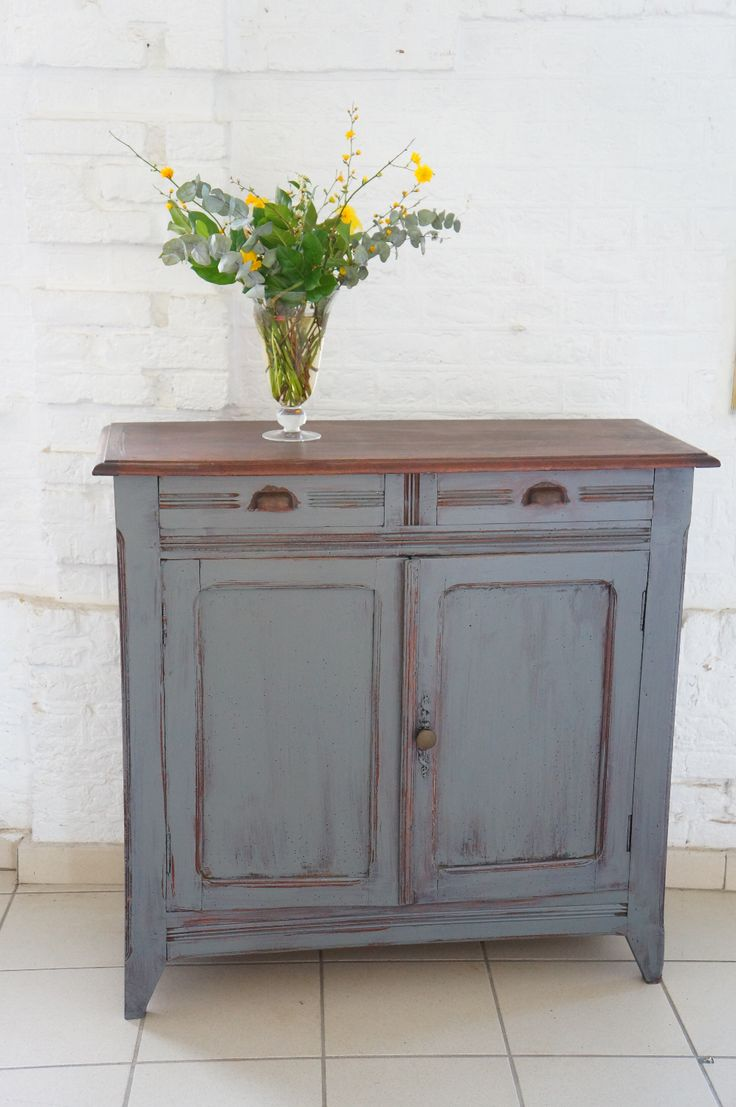 Buffet parisien gris relooker mes meubles pinterest for Petit buffet industriel