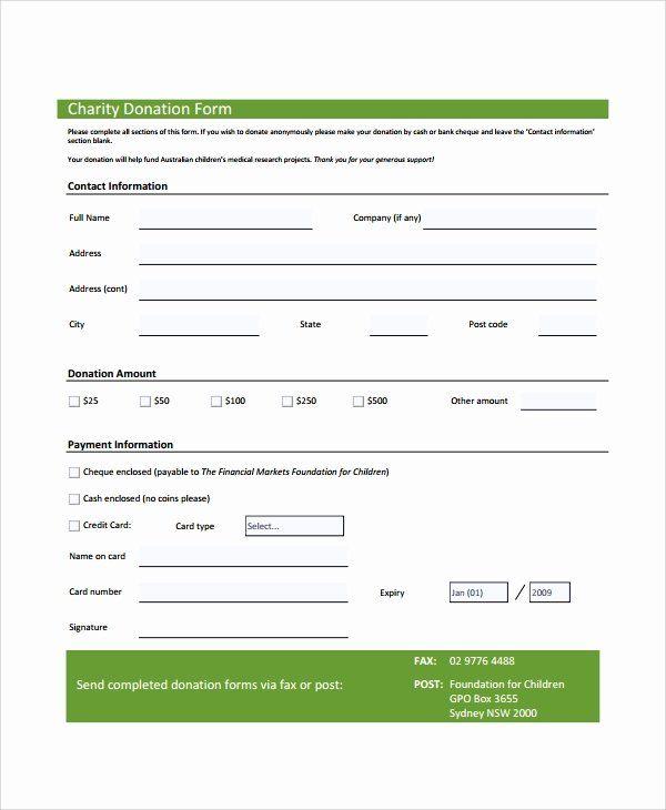 Donation Form Template Pdf Inspirational Sample Donation Form 6 Documents In Pdf Word Donation Form Donation Request Form Card Template