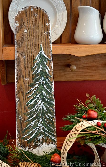 Don't throw away those old ceiling fans. Keep the blades and turn them into fabulous hand-painted Christmas decorations. Come see how easy it is!