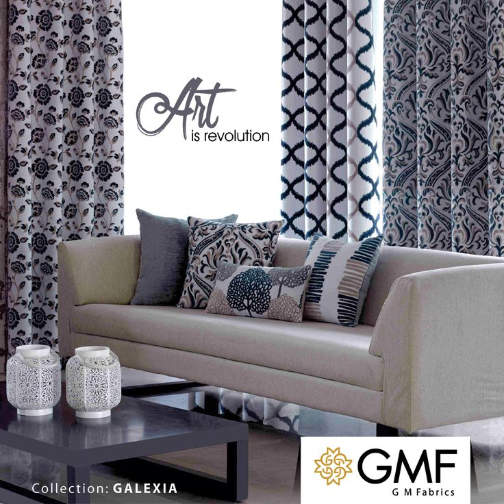 Give your #Home an #Artistic touch and make it look #Exquisite with our new #Galexia #Collection. Explore more at www.gmfabrics.com #GMF #GMFabrics #HomeInterior #TGIF #HomeFabric