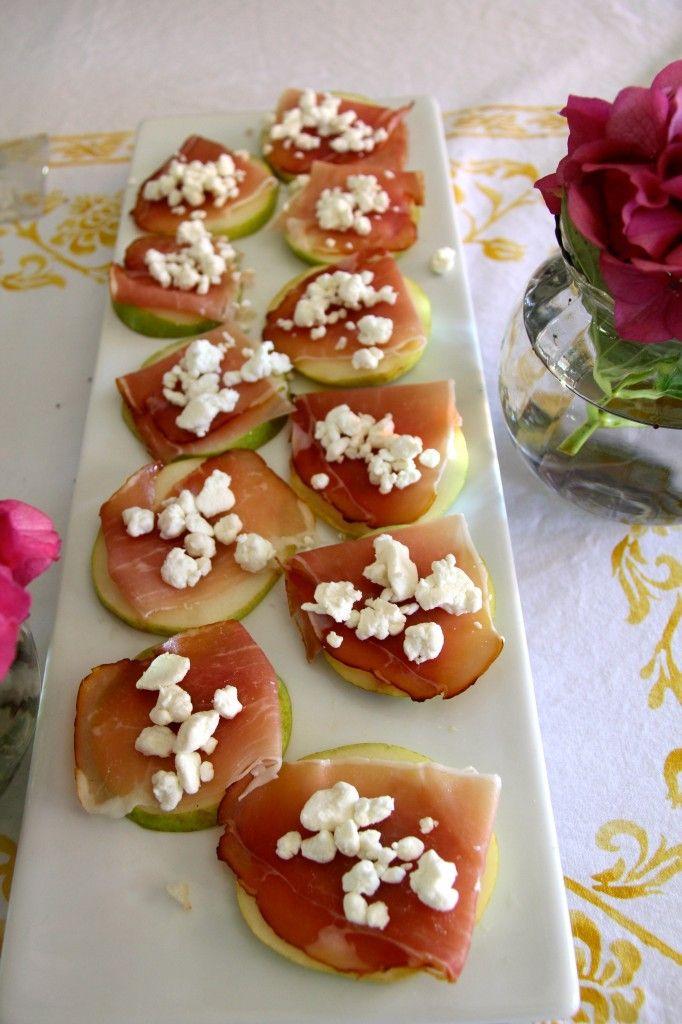 pears and prosciutto