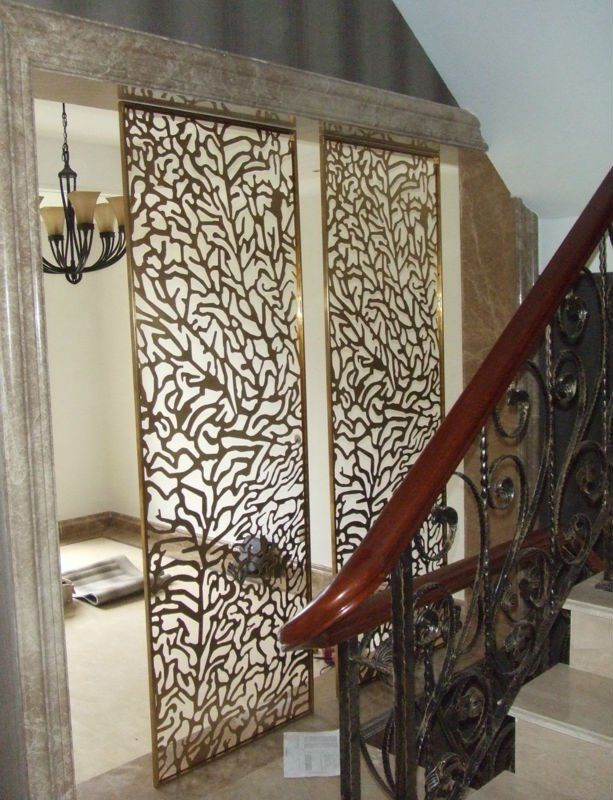 Decorative Laser-Cut Paper   decorative laser cut stainless steel partition wall for hilton hotel ...