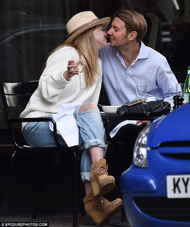 PDA: Alice Eve and husband Alex Cowper enjoyed an al fresco lunch with a romantic twist on...