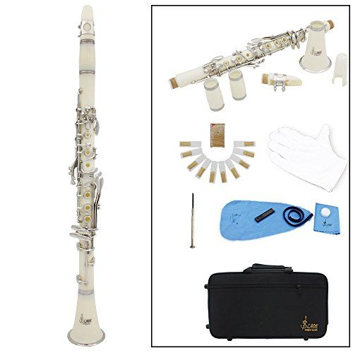 Slade® Clarinet ABS 17 Key bB Flat Soprano Binocular Clarinet with Cork Grease Cleaning Cloth Gloves 10 Reeds Screwdriver Reed Case Woodwind Instrument Slade http://www.amazon.co.uk/dp/B0114CUP5W/ref=cm_sw_r_pi_dp_Xziuwb0T626PH