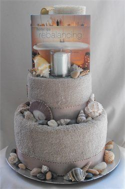 Spa Towel Cake -good idea for a wedding gift for a couple getting married down south