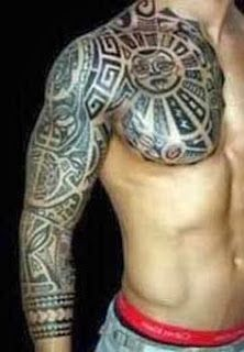 Tatuagem maori bracelete