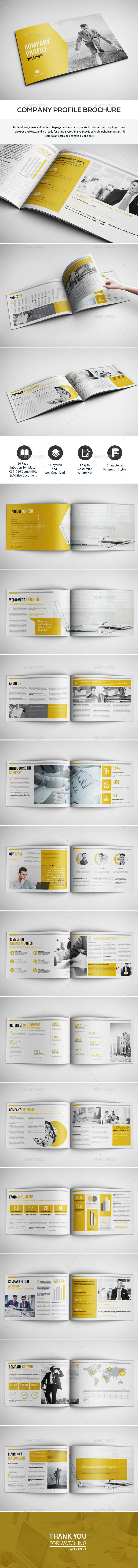 Company Profile - InDesign Template • Only available here ➝ https://graphicriver.net/item/company-profile/16928606?ref=pxcr