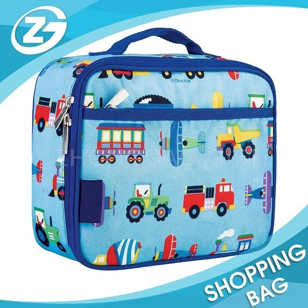 Cute Custom Promotional Insulation and Waterproof Thermal Insulated Kids Polyester Lunchbox Lunch Box Cooler Bag