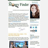 E-newsletter design by member Daley Progress for member The Money Finder.