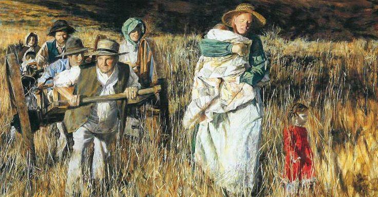 Mormon Trail Handcart Pioneer