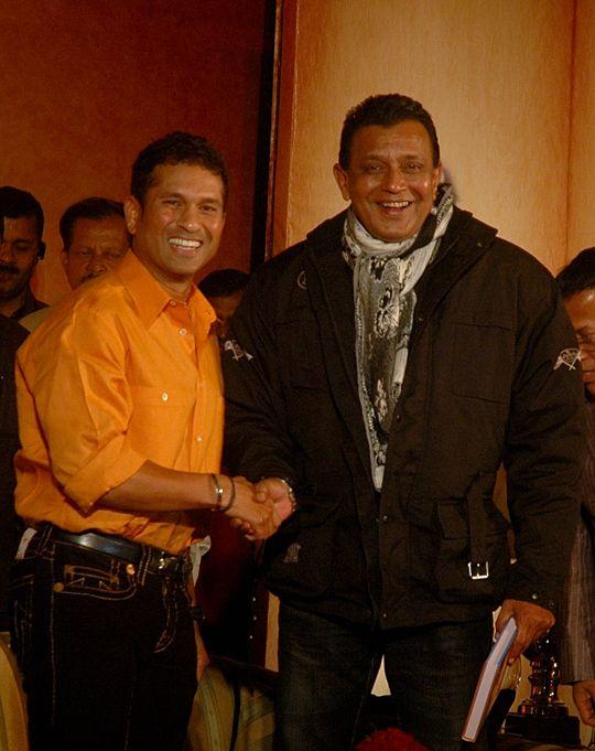 #Tendulkar with #Mithun da