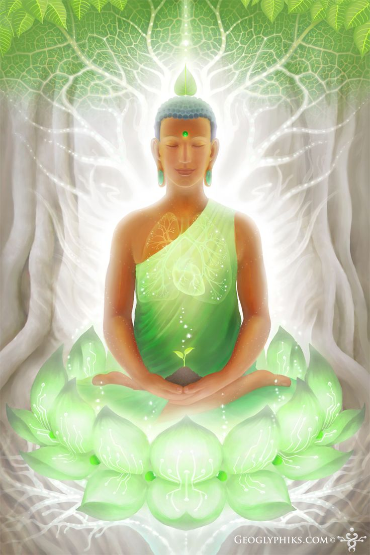 Pranasynthesis by Geoglyphiks - Buddha - Visionary Art