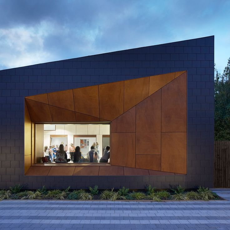 25 best ideas about fibre cement cladding on pinterest for Youth center architecture