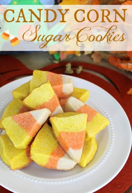 Candy corn, Sugar cookies and Halloween cookies on Pinterest