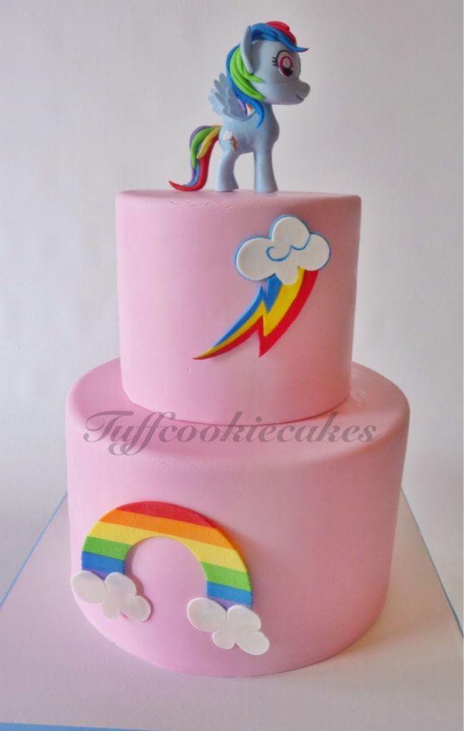 Rainbow Dash Cake Design : My little pony cake, Rainbow Dash. Covered in fondant ...