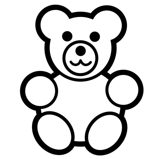 Bear Coloring Pages Preschool And Kindergarten Teddy Bear Coloring Pages Bear Coloring Pages Teddy Bear Crafts