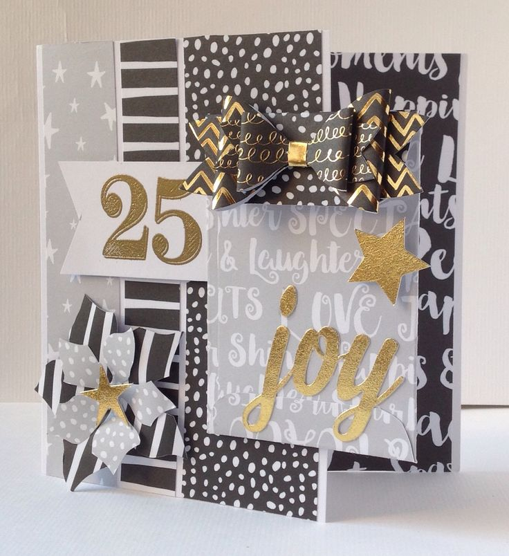 Card designed by Julie Hickey using Craftwork Cards Julie Loves Advent Calendar Kit with the Noir de Luxe collection.