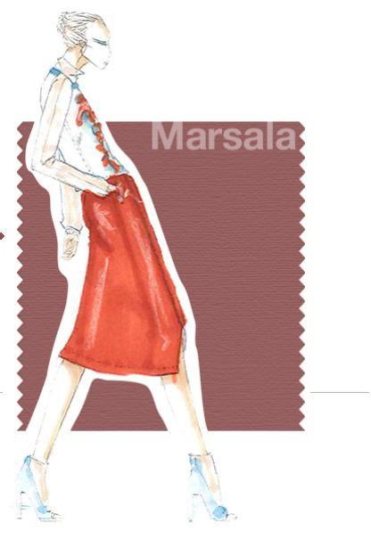 Colores de Moda 2015 | Tonos cálidos Marsala