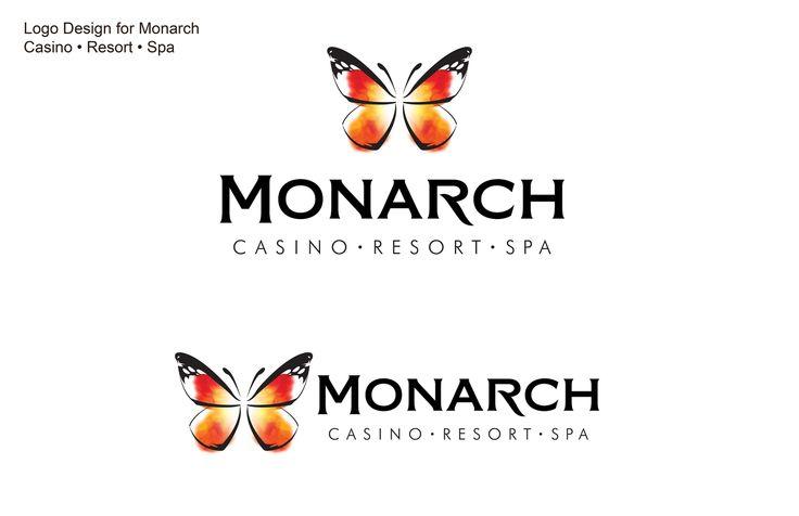 Logo Design for Monarch Casino • Resort • Spa.  Designed by Kathy Morton Stanion.