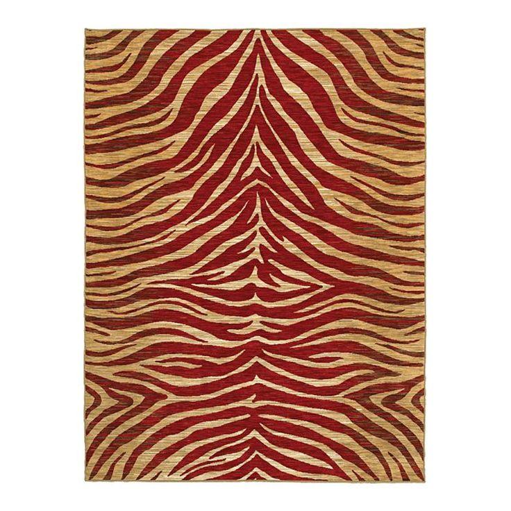 Mirabella Red Zebra Rug