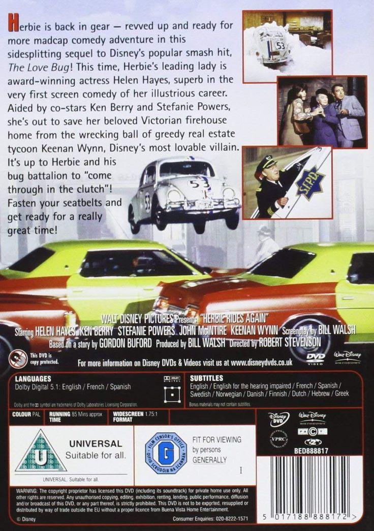 herbie rides again opening dvd - 736×1045