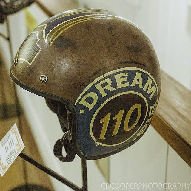 Helmet  I painted for  @harleyaustralia was on display at @tankmoto  issue 4 launch party few weeks back ... Photo taken by @crcooperphotography. Go follow him!