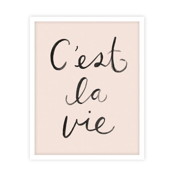 """Illustrated art print by Kelli Murray for Rylee & Cru. C'est la Vie - French phrase, translated as """"that's life"""". Printed on mattewhite paper - acid free, 110"""
